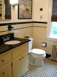 yellow tile bathroom ideas yellow and black tile vintage retro renovation