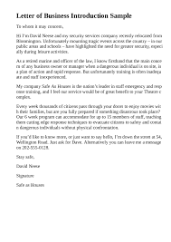 business introduction letter template free 28 images sle