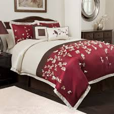Machine Washable Comforters Color Burgundy Workmanship Pattern Branch Embroidery 1 Comforter 2