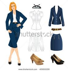vector illustration corporate dress code blue stock vector