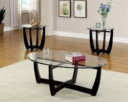 Glass Topped Coffee Tables Coffee Tables Attractive Black Oval Traditional Wooden Legs And