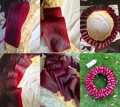 dyed corn husk wreath