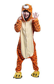 Snow Leopard Halloween Costume Amazon Honeystore Unisex Tiger Pajama Halloween Costume