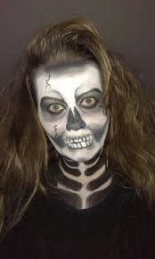 Skeleton Face Painting For Halloween by Grime Make Up Schmink Face Painting Skelet Skull Wwww