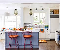 kitchen colors blue gray and tangerine kitchn