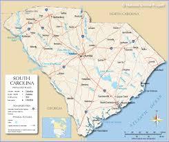 south carolina beaches map map of south carolina coast map of south carolina and