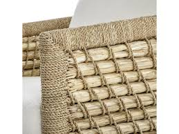 palecek accent chairs by palecek capitola woven rattan and