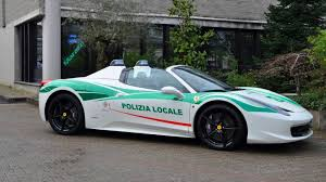Milan Cops Seize Mafia Ferrari 458 Spider Add It To Police Car