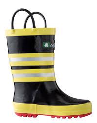 children u0027s rubber rain boots fireman rescue oaki rain gear
