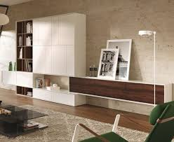 Contemporary Livingrooms Contemporary Living Room Wall Unit Lacquered Wood Oak Scopia