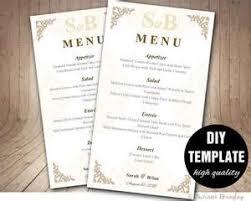 diy wedding menu templates free 28 images free wedding menu