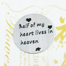 locket plates 22mm half of my heart lives heaven sillver floating locket plates