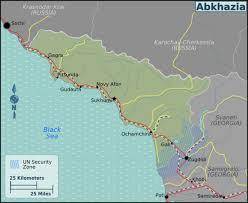 map of abkhazia abkhazia wikitravel