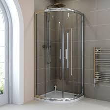 quadrant shower enclosures plumbworld hydrolux 6mm 900mm quadrant shower enclosure with tray