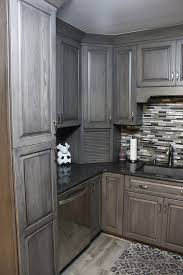 hickory grey stained kitchen cabinets starmark kitchen hickory ridgeville in driftwood w
