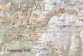 Kathmandu Nepal Map by Itreknepal Langtang Valley Trek