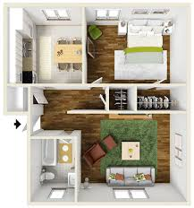 Single Bedroom Apartment Floor Plans 700 Square Foot One Bedroom Apartment Floor Plan Furnished