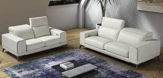 salotti bolton italian modern white u0026 blue leather sofa set