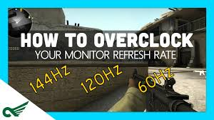 overclock your monitor increase your refresh rate hz