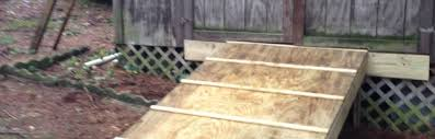 How To Build A Shed Ramp On Uneven Ground by Build A Shed Ramp Redneck Diy