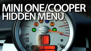 how to enter hidden menu in mini r56 one mini cooper mk2