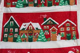christmas village craft panel christmas sewing panel christmas
