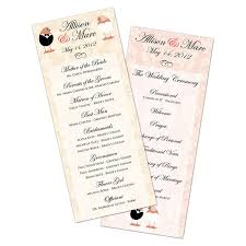 customized wedding programs customized wedding program card flat 3 5 x 8 5 usimprints