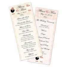 flat wedding programs customized wedding program card flat 3 5 x 8 5 usimprints