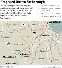 Boston Mbta Map Mbta Planning Extension Of Commuter Rail Service To Gillette