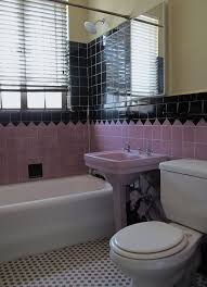 Pink Tile Bathroom Decorating Ideas Bathroom Adorable Cute Also Amazing Black And White Decor Loversiq