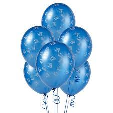 metallic balloons mid blue with trains matte balloons birthdayexpress