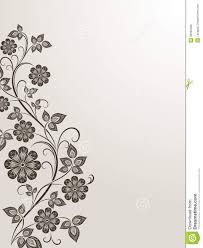 vintage flower side design stock vector illustration of
