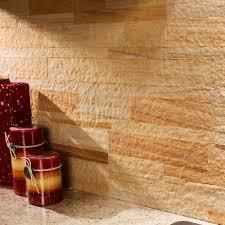Aspect Peel And Stick Backsplash by Aspect Peel And Stick Stone Kitchen Backsplash Golden Sandstone