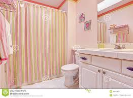 girls bathroom interior in pink tones stock photo image 44675676