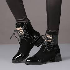 womens motorcycle riding boots 35 43 women boots genuine leather flat martin ankle boots womens