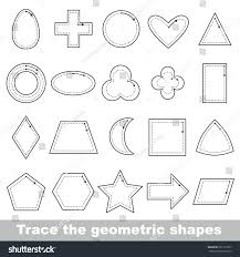 set geometric forms dot dot educational stock vector 587127227