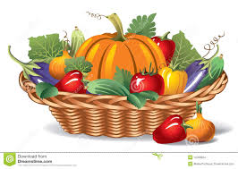 fruit and vegetable baskets vegetables in basket clipart clipartxtras