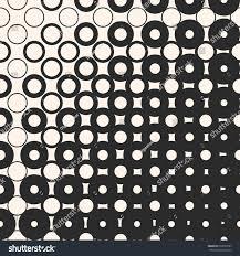 Stylish Design Vector Halftone Seamless Pattern Morphing Geometric Stock Vector