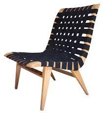 jens risom style webbed chair chairish