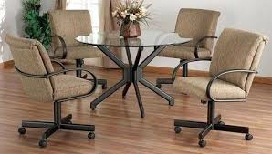 dinette table and chairs with casters stylish romantic dining room chairs with casters of excellent on