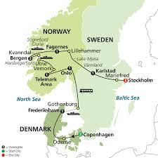 Scandinavia Map Cosmos Tours Focus On Scandinavia 2016