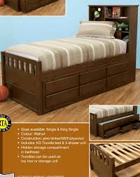 Single Bed Frame With Trundle Single Bed With Storage With Trundle And Drawers New Design