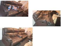 beautiful 3 seater electric and 2 seatermanual brown leather