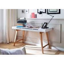 bureau blanc design bureau blanc bois table with bureau blanc bois excellent