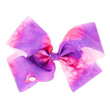 hair bow jojo siwa pink purple tie dye hair bow s