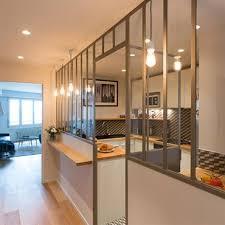 fermer une cuisine ouverte cuisine avec verrière