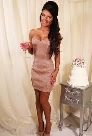 dress pink boutique rose gold mini dress sweatheart neckline