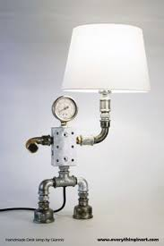 robot lamp head light by josephbarral on etsy projects to try