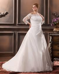 plus size wedding dresses with sleeves or jackets shoulder lace applique plus size wedding dress on sale