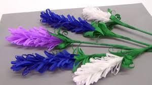 how to make lavender paper flower flower making for beginners